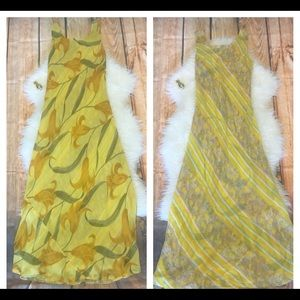 Dresses & Skirts - Reversible two-way vintage maxi dress S-M